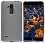 mumbi Hülle kompatibel mit LG G4 Stylus Handy Case Handyhülle, transparent schwarz