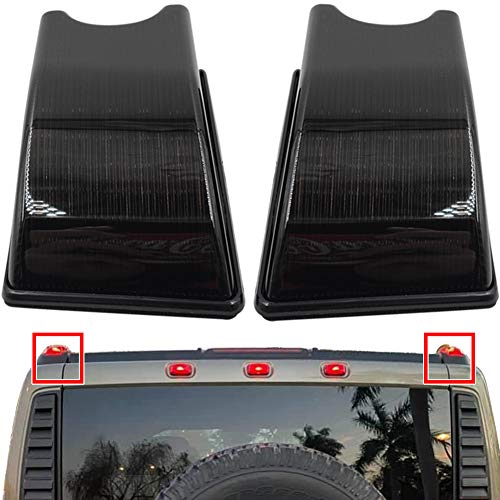 H2 Cab Roof Lights For 2003-2009 H2 and 2005-2009 H2 SUT Side Marker Lights Black Smoked Lens OEM Red Rear Cab Roof Marker Lamps Bulbs