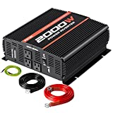 POTEK 2000W Power Inverter 3AC Outlets 12V DC to 110VAC Car Inverter...