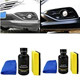 Car Plastic Part Retreading Agent -30ml Liquid Instrument Panel Agent Car Plastic Parts Reconditioning Agent Restores Faded and Dull Plastic and Leather Prevents Drying and Aging (30ml+50ml)