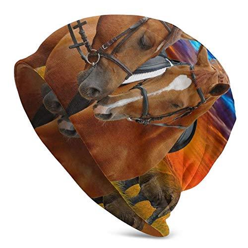 QUEMIN Caballo Roman Coliseum Skull Cap Gorro elástico Gorros Holgados Sombreros de Moda de Punto de Invierno para Mujeres Hombres