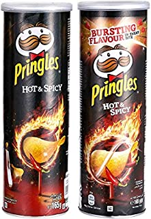 Pringles Hot and Spicy Chips, 165 g (Pack of 2)