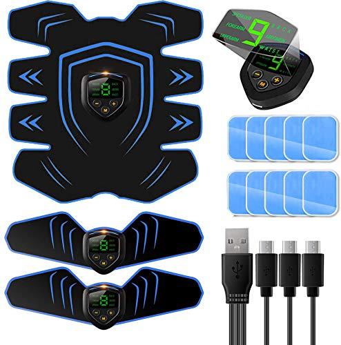 Appareil Abdominal, Electrostimulateur Musculaire ABS Trainer EMS Smart Ceinture USB de Charger Abdominal Gym...