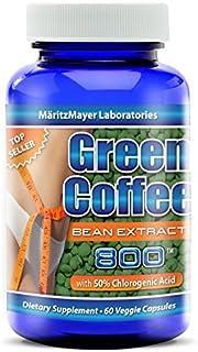 MaritzMayer Green Coffee Bean Extract 800 mg, 1 bottle 60 Count