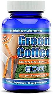 MaritzMayer Green Coffee Bean Extract 800 mg, 1 bottle 60 Count