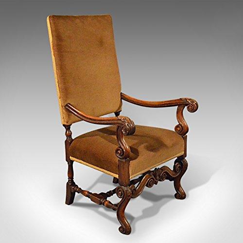 London Fine Antiques Envejecido, Codo Silla, Inglés, Nogal, sillón, Estilo Victoriano, Circa 1880