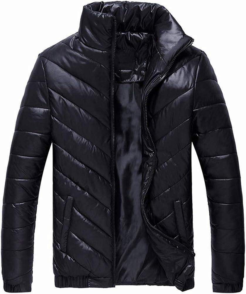 Gihuo Men's Lightweight Zip Up Quilted Puffer Jacket