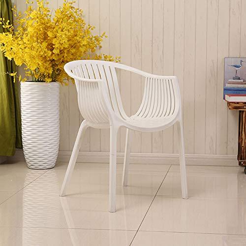 LC-SHBAGS eetkamerstoelen Eames fauteuil plastic stoel mode kantoor vergaderruimte familiecreatieve stoel eenvoudige, moderne, casual outdoor stoel wit