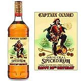 Étiquette personnalisable pour bouteille de rhum épicé Captain Morgan BL022