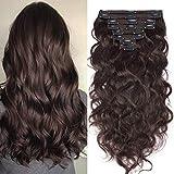 Extensions Cheveux Naturel a Clip Maxi Volume Ondulé - 100% Remy Human Hair Double...