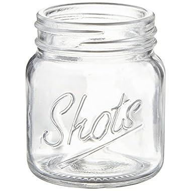 Palais Glassware Palais 'Shots' Mason Jar Shot Glasses - Mini Shot Glass Cups - Holds 2.4 Oz - Set of 6 (Clear)