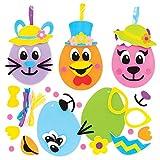 Kit Uova di Pasqua Facce Divertenti Baker Ross (confezione da 8) - Novità Giocattoli per bambini, regalini per feste, bottino o premi
