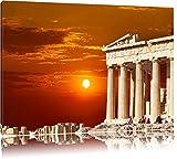 Tempel der Athene bei Sonnenuntergang Format: 100x70 auf