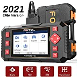 FOXWELL OBD2 Scanner NT604 Elite Scan Tool ABS/SRS/Transmission/Check Engine,Car Code Reader with Airbag, ABS SRS Car Diagnostic Scanner
