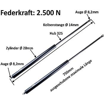ALKO Gasfeder Gasdruckdämpfer Böckmann Pferdeanhänger Heckklappe 2250N AL-KO