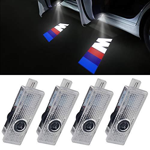 LED Puerta HD Proyector láser de coche sombra fantasma bienvenida paso M Logo emblema luz LED