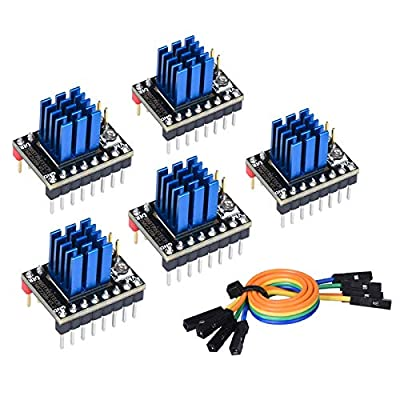 PoPrint TMC2209 V1.2 Controlador de motor paso a paso VS TMC2208 TMC2130 A4988 Piezas de impresora 3D para Ender 3 SKR V1.3 Pro E3 DIP Motherboard (5 piezas)