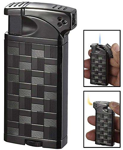 Visol Coppia All-in-One Gunmetal Cigar, Cigarette and Pipe Lighter