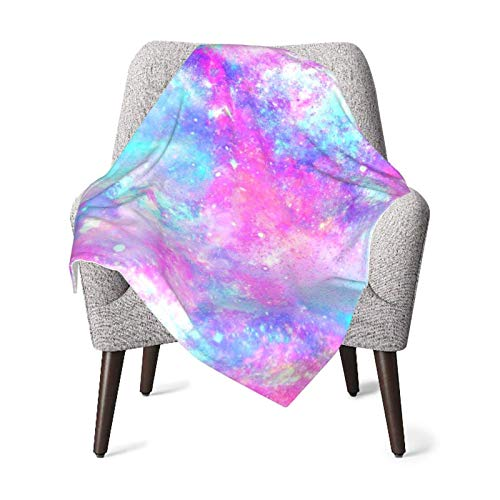 XCNGG Mantas para bebés edredones para bebésMarbled Galaxy Pink Purple Repeat Abstract Blue Bright Color Baby Blanket All Season, Super Soft Warm Cozy Blanket for Infant, Newborn or Kid, Receiving Bla