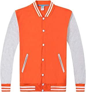 6fad3e92e3f KINDOYO Casual Sports Jacket - Unisex Fashion Colorblock Lightweight  Sweatshirts