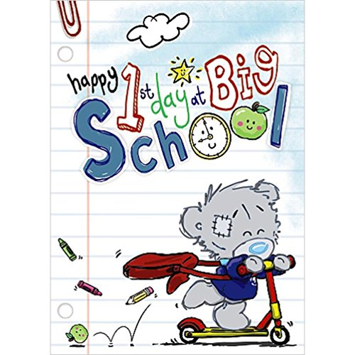 Happy 1st Day at Big School Cute Me to You Bear Dinky Tatty Teddy New Greetings Card