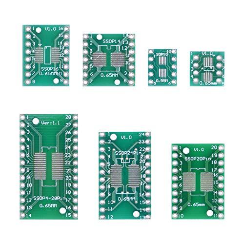 35Stk Doppelseitig Lochrasterplatte Kit PCB Universal Board Lochrasterplatine Leiterplatte Platine mit 7 Module (SOP8 SOP10 SOP14 SOP16 SOP20 SOP24 SOP28)