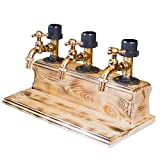 Dispenser Liquor Alcohol Whiskey Wood Dispenser Faucet Shape for Party Dinners Bars and Beverage Stations Spigot Drink Kegs Gift for Father Friends (Triple)