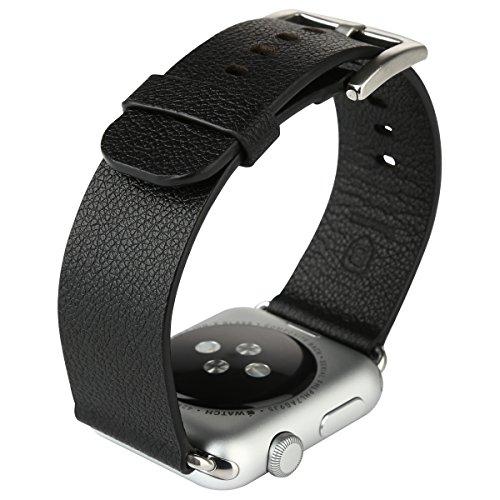 Baseus Apple Watch Band, Pinhen Moderno Magnetico iWatch Fibbia Cinturino in Vera Pelle di Sport di Polso Braccialetto della Cinghia per Apple Watch