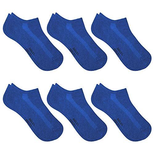 Snocks Sneaker Socken Damen Blau Größe 39-42 6x Paar Sneaker Socken Herren Damen Sneaker Socken Füßlinge Damen Sneakersocken Damen 39-42