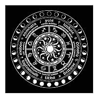 60x60cm占い祭壇オラクルカードパッドテーブルクロスボードゲームフォーチュン占星術フランネル布家の装飾