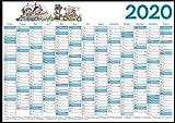 Wandplaner/Wandkalender/Kalender/Jahresplaner 2020 / DIN A1 mit Zeichnung