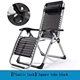 XRQ Zero Gravity Recliner Lounge Chair, Folding Patio Lawn Pool Chair with Headrest Holder, Support 300Lbs, Folding Nap Recliner Chair,Black