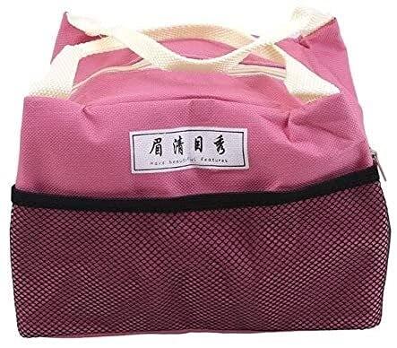 yxx Caja de Almuerzo portátil Bolsa de Almuerzo de Lona aislada Señoras Niños Picnic Bolsa de Comida para Oficina Oficina de Trabajo Viajes Trabajo Picnic Playa Senderismo (Color : D)