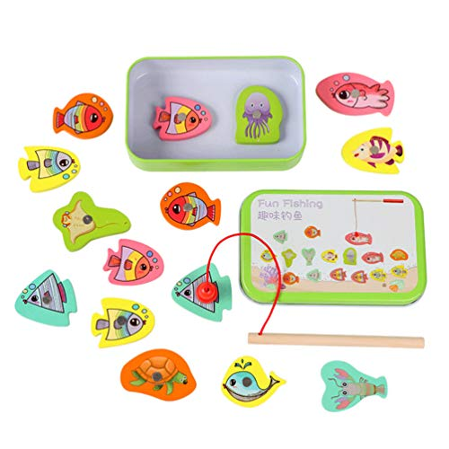 Lowest Prices! TOYANDONA 1 Box Fishing Game Toy Magnetic Fishing Toy Educational Game Playset