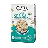 Quinn Just Sea Salt Popcorn, 7 oz (Pack of 2)