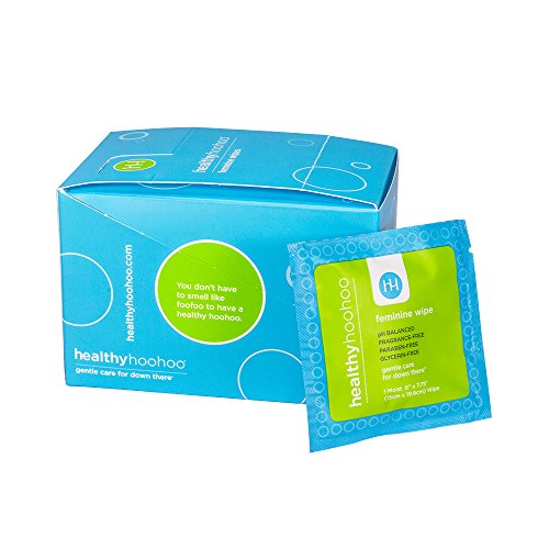healthy hoohoo Individually Wrapped Feminine Wipes - Biodegradable, Gentle, All Natural (20 Pack)