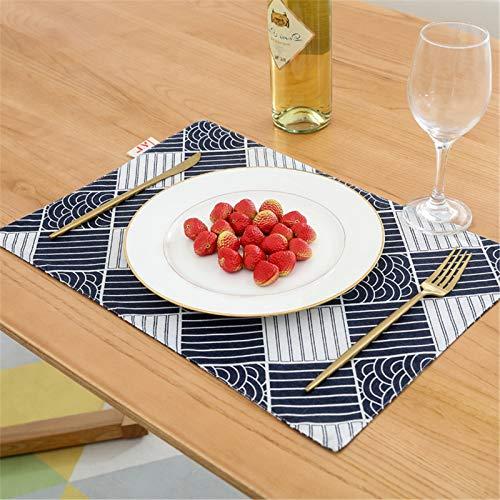 Anmy Japanische westliche Tischsets Serviette Backen Requisiten Gittertuch Tischdecke 4pcs Tischsets (Farbe : #3, Size : 30x45cm)