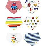 dooppa 6pcs Bandana Dribble babero para bebés y niños Super absorbente 100%...