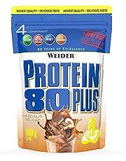 Weider Weider Protein 80 Plus Eiwitpoeder aardbei Low Carb meercomponenten Caseïne Whey