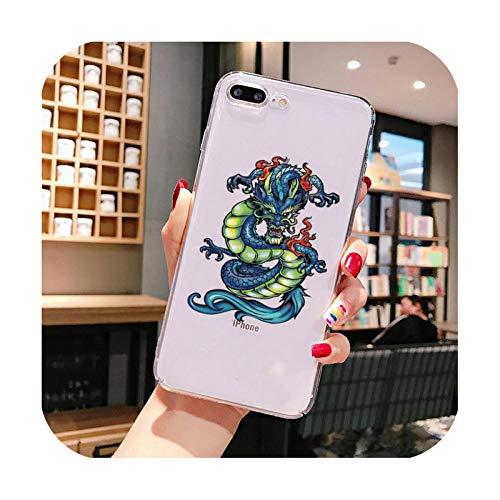 Funda de teléfono para iPhone X XS MAX 6 6s 7 7plus 8 8Plus 5 5S SE 2020 XR 11 11pro max funda transparente Cover-a12-For iPhone6plus