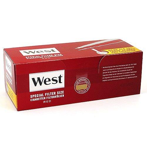 Zigarettenhülsen West Red Special 1.000 Stück