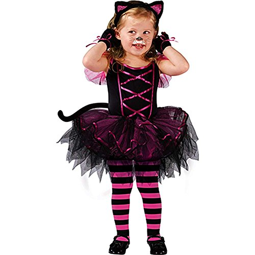 Fun World Catarina Ballerina Toddler Costume,Black / Pink,3T-4T