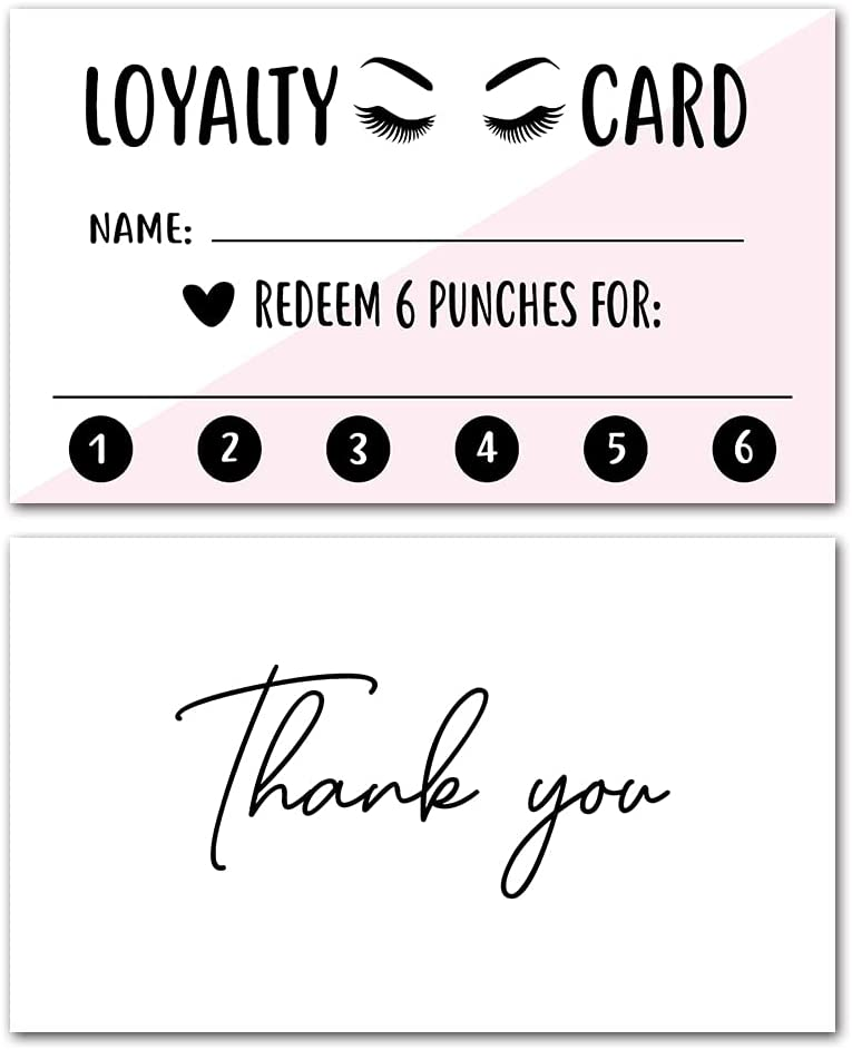 Lash Great interest Extension Loyalty Refill Card Detroit Mall Customer Punch