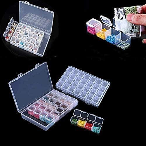 LHYLHY Diamond Embroidery Box Diamond Embroidery Box 2Pack 28 Slots Painting Cross Stitch Box Storage Box Mini