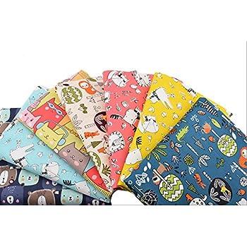 6 Telas infantiles ositos zorritos100% algodon canastillas, vestiditos, cojines, cocina, guirnaldas, manualidades de costura 40 x 50 cm de CHIPYHOME: Amazon.es: Hogar