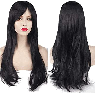 Charming Women's Long Curly Full Hair Wig - Black