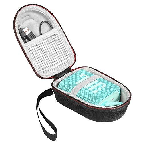 AONKE Hart Reise Fall Case Tasche für JBL GO 3 Wasserfester portabler Bluetooth-Lautsprecher (Black)