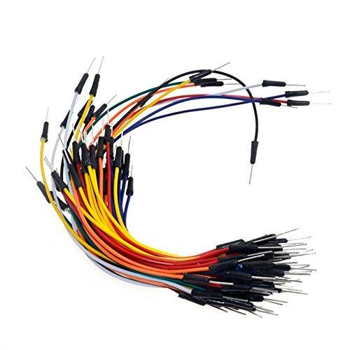 OcioDual 65pcs de Cable Jumper Dupont Macho/Macho Puente para Tablero para protoboard Breadboard pic solderless breadboard