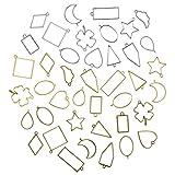 Keyzone 42 piezas marco colgante bisel, molde de fundición joyas Charms colgante, DIY mol...
