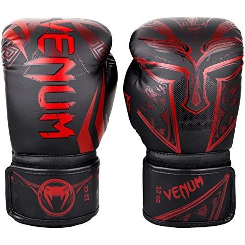 Venum Boxhandschuhe Gladiator 3.0, Unisex-Erwachsene, Gladiator 3.0 Boxing Gloves - Black/Red - 12 Oz, schwarz/red, 12 Ounces